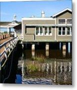 Wharf At Jekyll Island Metal Print
