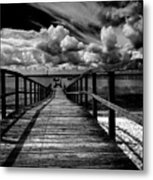 Wharf At Southend On Sea Metal Print