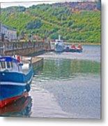 Wharf Near Angelmo Fish Market In Puerto Montt-chile  Metal Print