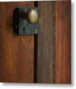 What's Behind The Door Metal Print