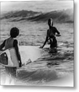 What's Up Surfer Girl Metal Print