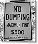 What's Wrong With This Sign Metal Print