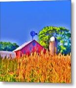 Wheat Farm Near Gettysburg Metal Print
