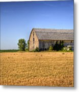 Wheat Field Barn Metal Print