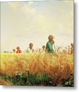 Wheat Field In The Summer Metal Print