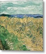 Wheat Field With Cornflowers At Wheat Fields Van Gogh Series, By Vincent Van Gogh Metal Print