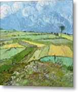 Wheat Fields After The Rain, The Plain Of Auvers Metal Print