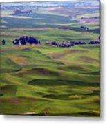 Wheat Fields Of The Palouse - Eastern Washington State Metal Print