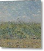 Wheatfield With Partridge Paris, June - July 1887 Vincent Van Gogh 1853 - 1890 Metal Print