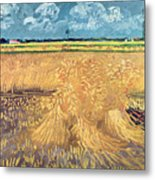 Wheatfield With Sheaves Metal Print