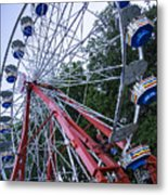 Wheel At The Fair Metal Print