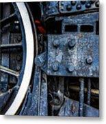 Wheel In Black II Metal Print
