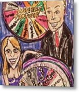 Wheel Of Fortune Pat Sajak And Vanna White Metal Print