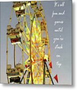 Wheel Of Fortune With Phrase Metal Print
