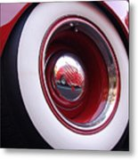 Wheel Reflection Metal Print