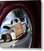 Wheel Reflections Metal Print