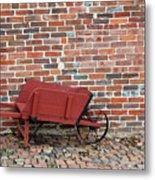 Wheelbarrow Metal Print