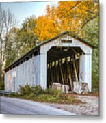 Wheeling Covered Bridge Metal Print