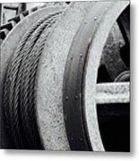 Wheels And Pulleys  Metal Print