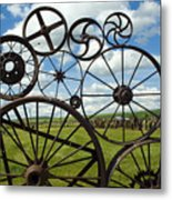 Wheels Metal Print