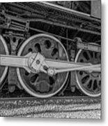 Wheels On A Locomotive Metal Print