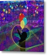When Balloons Become Stars Metal Print