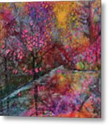 When Cherry Blossoms Fall Metal Print