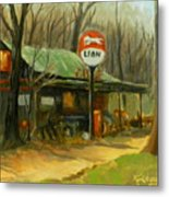 When Gas Was A Quarter Metal Print
