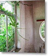 When Nature Takes Over - Abandoned Buildings Metal Print