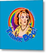Think Dog Metal Print