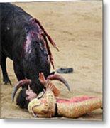 When The Bull Gores The Matador Vii Metal Print