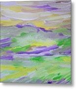 When The Sky Is Yellow The Purple Emerges Metal Print