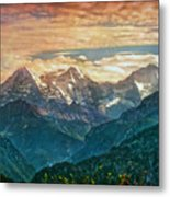 When The Sun Says Good Bye To The Mountains  Metal Print