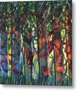 When The Trees Came Out To Play Metal Print