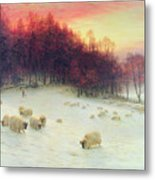 When The West With Evening Glows Metal Print by Joseph Farquharson