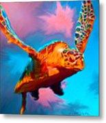When Turtles Fly Metal Print
