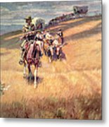 When Wagon Trails Were Dim Metal Print