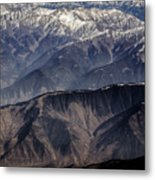 When You Climb Up A High Mountain, You'll See A Myriad Of Mountain Which You Need To Climb Again Metal Print