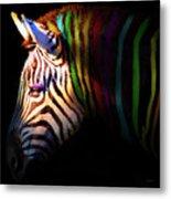 When Zebras Dream 7d8908 Square Metal Print