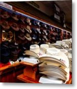 Where Cowboys Shop Metal Print