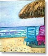 Peaceful Day At The Beach Metal Print