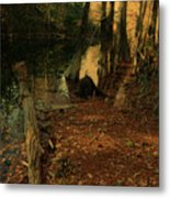 Where Leaves Touch The River Metal Print