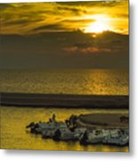 Where The Boats Are Sleeping Metal Print