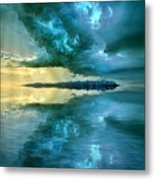 Where The Clock Stops Spinning Metal Print