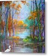 Where The Egret Lives Metal Print