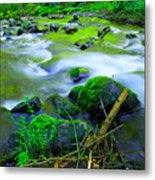 Where The Golden Waters Flow Metal Print