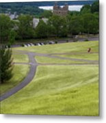 Where The Paths Cross Cornell University Ithaca New York Metal Print