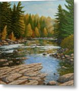 Where The River Flows Metal Print