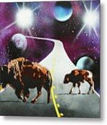 Where The Space Buffalo Roam II Metal Print