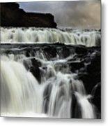 Where The Water Falls Metal Print